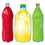 Bottles with carbonated water Stock Photo