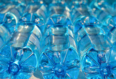 Bottles with carbonated water Stock Images