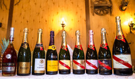 Bottles of champagne Royalty Free Stock Image