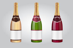 bottles champagne Arkivfoton