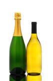 bottles champagne chardonnay Royaltyfria Bilder