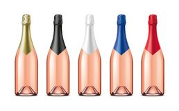 Bottles of Champagne. Version with Rose Wine. royalty free stock photos