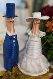 Bottles of champagne wedding Royalty Free Stock Photos