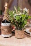 Bottles of champagne wedding Royalty Free Stock Photo