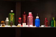 Bottles at Chem-Med, the Mediterranean chemical ev Stock Photo