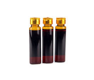 Bottles of chinese medicine. Over white background Royalty Free Stock Photos