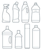 Bottles of cleaning products Stock Photos