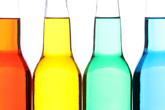 Bottles closeup isolated Stock Images