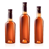 Bottles of cognac (brandy). Vector illustration. Stock Photography