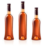 Bottles of cognac (brandy). Vector illustration. Royalty Free Stock Photography