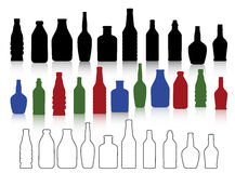 Bottles collection Stock Image