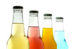 bottles coloful Arkivfoton