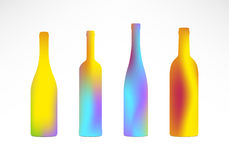 Bottles Color Gradient Silhouettes Royalty Free Stock Image