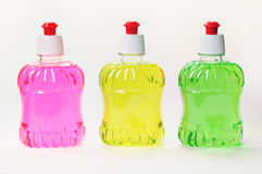 Bottles with color liquids. Royalty Free Stock Photos
