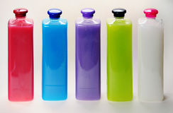 Bottles with color liquids. Royalty Free Stock Image