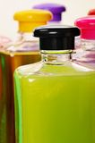 Bottles with color liquids. Stock Images