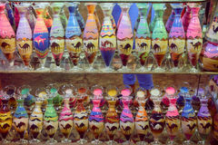 bottles with colored sand Royalty Free Stock Photography