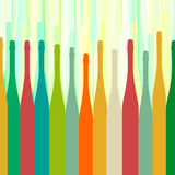 Bottles colorful background abstract Royalty Free Stock Image