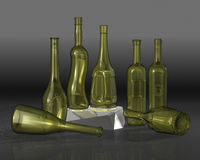 Bottles composition. Stock Image
