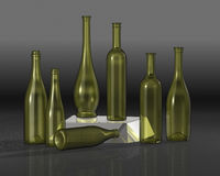 Bottles composition. Royalty Free Stock Photography