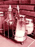 Bottles of Condiments Royalty Free Stock Photos