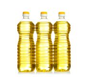 Bottles of cooking oil, isolated royalty free stock image