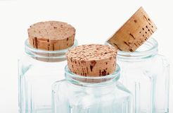 Bottles and corks Royalty Free Stock Photo