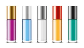 Bottles for cosmetic stock images