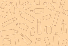 Bottles of cosmetic products Royalty Free Stock Photography