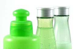 bottles cosmeticen Arkivfoto