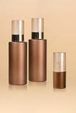 bottles cosmeticen Royaltyfria Bilder