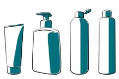 bottles cosmeticen Arkivfoton