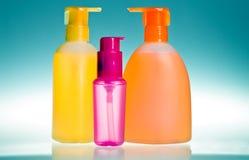 Bottles for cosmetics Stock Photo