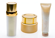Bottles for cosmetics Royalty Free Stock Photography