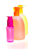 Bottles for cosmetics Royalty Free Stock Images
