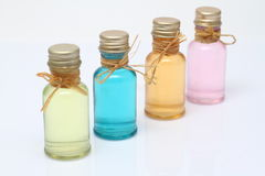 Bottles of cosmetics Royalty Free Stock Images
