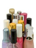 Bottles of cosmetics Stock Images