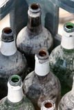 Bottles in crate Stock Photography