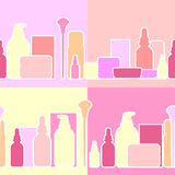 Bottles and creams,  illustration Royalty Free Stock Image