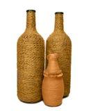 bottles dekorativ hand - gjorda tre Arkivbilder