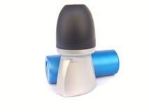 bottles deodoranten isolerade två arkivfoto