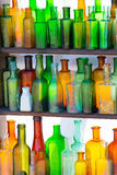 Bottles with different colors Royalty Free Stock Photography
