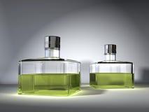 Bottles. Digital visualization of parfum bottles Royalty Free Stock Photo