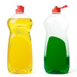 Bottles dishwashing liquid Stock Image