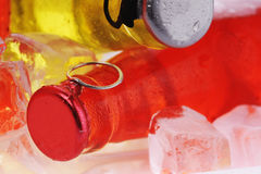 Bottles with drink Royalty Free Stock Image