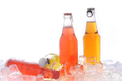Bottles with drink Royalty Free Stock Photo