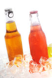 Bottles with drink Stock Images