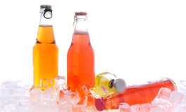 Bottles with drink Royalty Free Stock Images