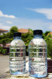 Bottles of drinking water Stock Photos