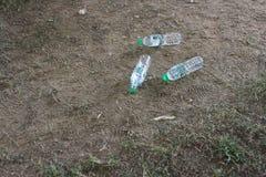 Bottles of drinking water left on the floor. December 7, 2018, Muang District, Nakhon Sawan Province, Thai stock image